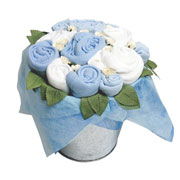 Baby Clothing Flower Pail - Blue