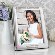 First Holy Communion Frame with Pink or Blue Cross