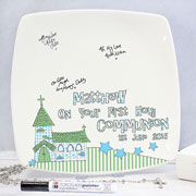 Church 1st Holy Communion Message Plate - Boy/Girl