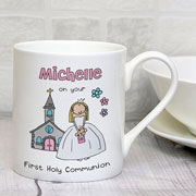 Personalised Bang On The Door First Holy Communion Mug