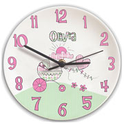 Whimsical Pram Personalised Clock