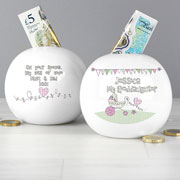 Whimsical Pram Goddaughter Moneybox