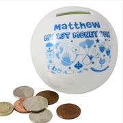 Personalised My First Money Box - Boy