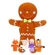 Gingerbread Man Hand and Finger Puppet Set by Fiesta Crafts