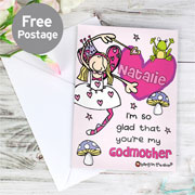 Personalised Bang On The Door Godmother Card Free Delivery