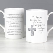 Personalised Godparent Cross Mug