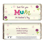 Patchwork Flowers Personalised Chocolate Bar - Free Delivery