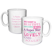 Personalised She Is Mug Mum Nan Auntie etc