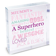 Personalised She Is... Crystal Token Mummy Grandma