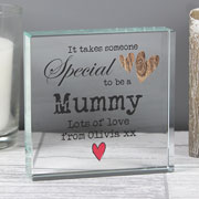 Someone Special Personalised Crystal Token Mummy Gran etc