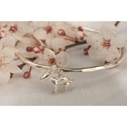 Sterling Silver Childs Rabbit Bangle