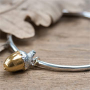 Golden Acorn Bangle