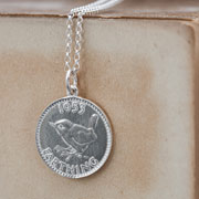 Silver Lucky Farthing Necklace