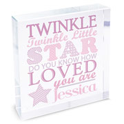 Twinkle Twinkle Girls Large Crystal Token
