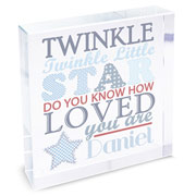 Twinkle Twinkle Boys Large Crystal Token