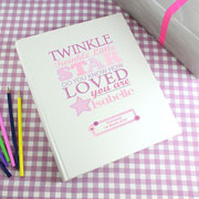 Twinkle Twinkle Girls Personalised Photo Album - Interleaved