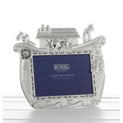 Silver Plated Noahs Ark Photo Frame