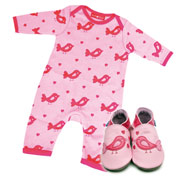Inch Blue Bird Baby Grow & Shoe Gift Set
