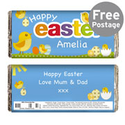 Personalised Easter Chick Chocolate Bar - Free Delivery