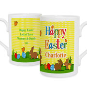 Personalised Happy Easter Mug With Chocolates