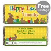 Personalised Happy Easter Chocolate Bar - Free Delivery