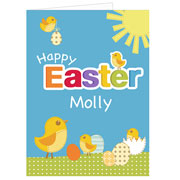 Personalised Happy Easter Card Free Delivery