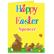 Personalised Easter Bunny Card Free Delivery