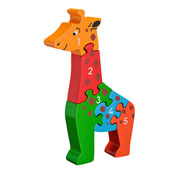Lanka Kade Fair Trade Wooden Giraffe 1–5 Jigsaw Puzzle