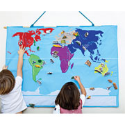 Oskar and Ellen Fabric World Map