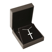 Silver Plain Cross and Chain