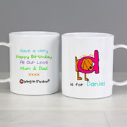 Drop-Proof Bang On The Door Animal Alphabet Mug - Boy
