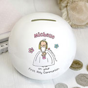 Bang On The Door First Holy Communion Girl's Money Box