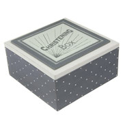 East of India Large Wooden Christening Box