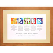 Framed Personalised Name Print