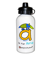 Personalised Animal Alphabet Boys Drinks Bottle