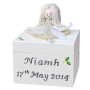 First Holy Communion Rosary Box Gold