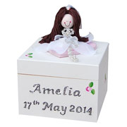 Girl's Personalised First Holy Communion Wooden Rosary Box