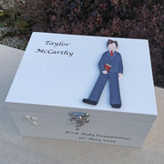 Boy's First Holy Communion Personalised Wooden Keepsake Box
