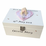 Personalised First Holy Communion Jewellery Box