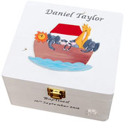 Wooden Noah's Ark Personalised Keepsake Box