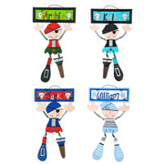 Boys Large Personalised Wooden Wall Door Hanger