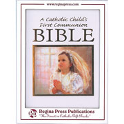 A Catholic Girls First Communion Bible