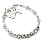 First Communion/Christening Name Bracelet With Engraving
