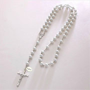Personalised Pearl Rosary Necklace