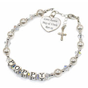 Luxury Christening/Holy Communion Personalised Name Bracelet