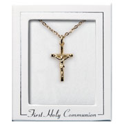 18ct Gold Plated First Holy Communion Crucifix