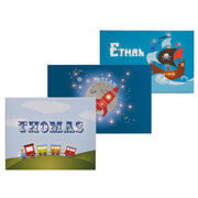 Boys Personalised Illuminated Canvas