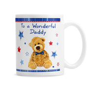 Personalised Teddy Bow Tie Mug with Chocolates