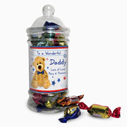 Teddy Bow Tie Personalised Toffee Jar