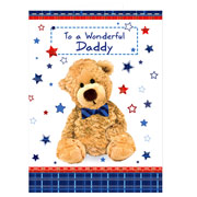 Personalised Teddy Bow Tie Card - Free Delivery